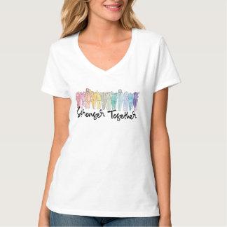 T-shirt Pièce en t du V-Cou ensemble des femmes plus