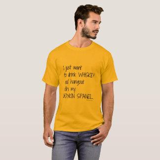 T-shirt Pièce en t du whiskey des hommes