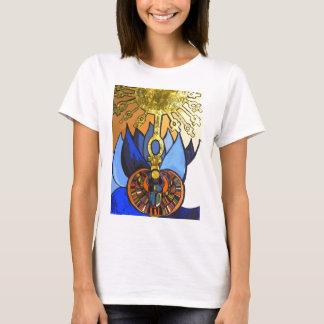 T-shirt Pièce en t égyptienne de Lotus bleu Aten de