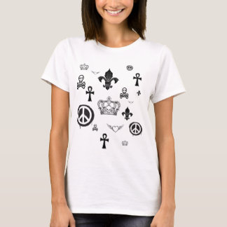 T-shirt Pièce en t en baisse de symboles