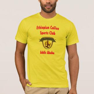 T-shirt Pièce en t éthiopienne de club de sports de café