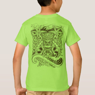 T-shirt Pièce en t exotique officielle de garçons d'île de