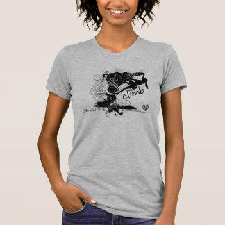 T-shirt Pièce en t femelle d'escalade de roche