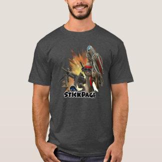 T-shirt Pièce en t folle de bâton de Rambo