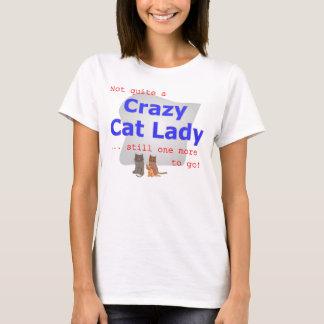T-shirt Pièce en t folle de Madame de chat