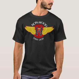 T-shirt Pièce en t foncée commémorative de capot de Ron