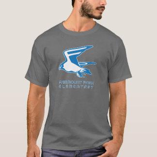 T-shirt Pièce en t foncée de faucon avec le graphique