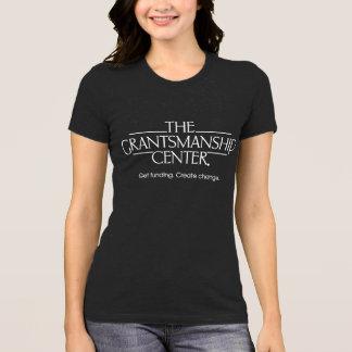 T-shirt Pièce en t foncée du Jersey des femmes de logo de