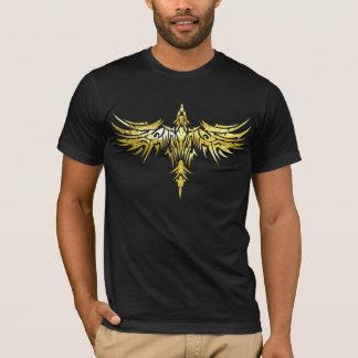 T-shirt pièce en t foncée tribale 1 de Phoenix