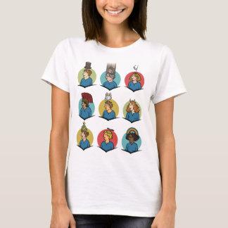 T-shirt Pièce en t formée girly de funnies d'Amasong