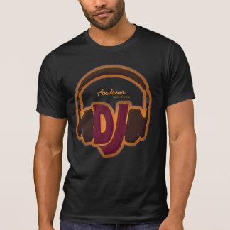 T-shirt pièce en t fraîche personnalisée du DJ