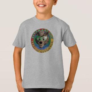 T-shirt Pièce en t futée de label de chat d'ETV