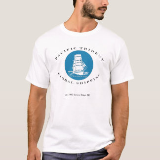 T-shirt Pièce en t globale Pacifique d'expédition de