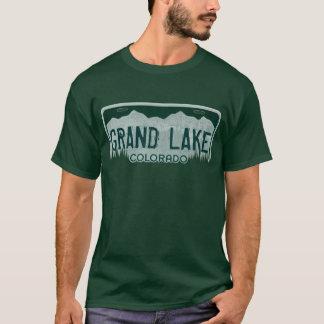 T-shirt Pièce en t grande de plaque minéralogique de types