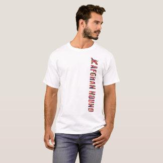 T-shirt Pièce en t graphique de lévrier afghan multi