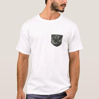 T-shirt Pièce en t grise de poche de Camo