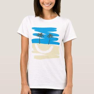 T-shirt Pièce en t heureuse de plage