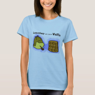 T-shirt Pièce en t hilare de citrons et de gaufres