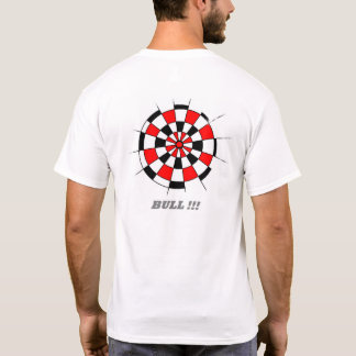 T-shirt Pièce en t imprimée de panneau de dard