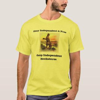 T-shirt pièce en t indépendante et libre de librairie