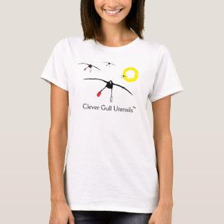 T-shirt Pièce en t intelligente d'ustensiles de mouette