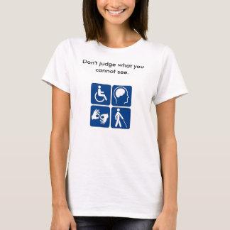 T-shirt Pièce en t invisible de maladie