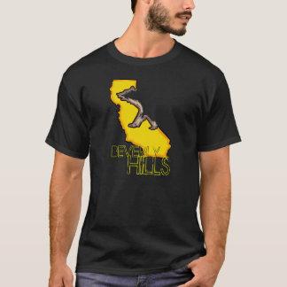 T-shirt Pièce en t jaune de types noirs de Beverly Hills