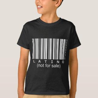 T-shirt Pièce en t latine de noir de code barres