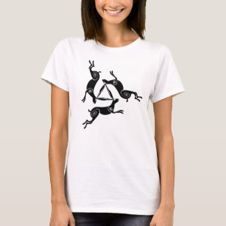 T-shirt Pièce en t légère de lièvres de dames triples de