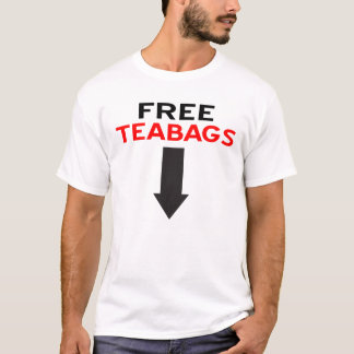 T-shirt Pièce en t libre de sacs à thé