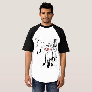 T-shirt Pièce en t locale de base-ball d'amour