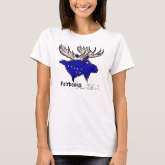 T-shirt Pièce en t locale de dames de drapeau de Fairbanks