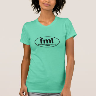 T-shirt Pièce en t locale de dames de FML Frederick le