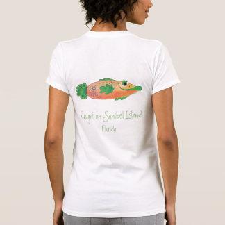T-shirt Pièce en t lunatique de poissons de Sanibel la