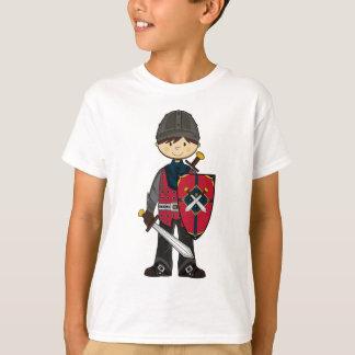 T-shirt Pièce en t médiévale mignonne de chevalier