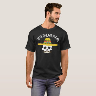 T-shirt Pièce en t mexicaine de cadeau de crâne de Tijuana