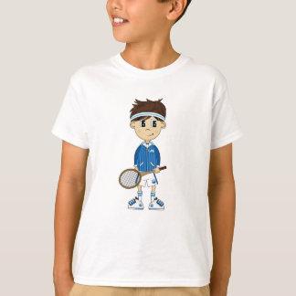 T-shirt Pièce en t mignonne de garçon de tennis