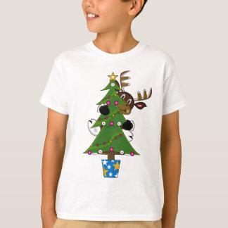 T-shirt Pièce en t mignonne de Noël de renne