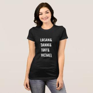T-shirt Pièce en t mince tombée d'ajustement de nom
