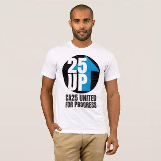 T-shirt Pièce en t noire de logo d'atterrisseur de CA25UP