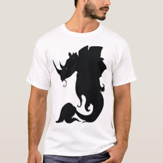T-shirt Pièce en t noire de Rhinostegofish