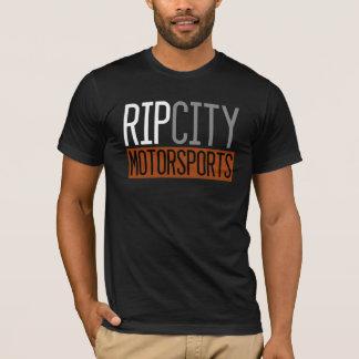 T-shirt Pièce en t noire de Shortsleeve de sports