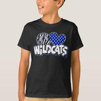 T-shirt Pièce en t noire des chats sauvages solides