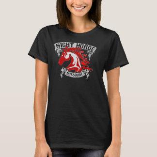 T-shirt Pièce en t noire du Missouri d'horde de nuit