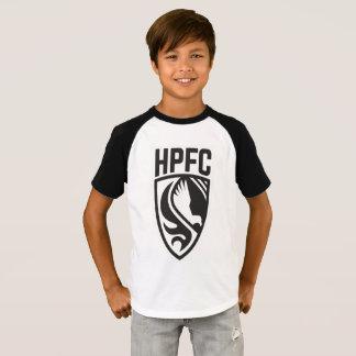 T-shirt Pièce en t noire et blanche de HPFC d'enfants