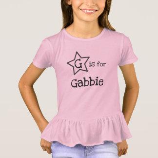 T-shirt pièce en t nommée personnalisée pour la fille