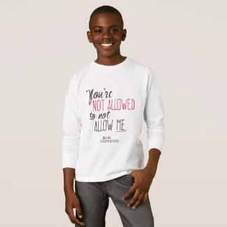 T-shirt Pièce en t non permise UNISEXE de la douille des