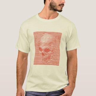 T-shirt Pièce en t optique de crâne