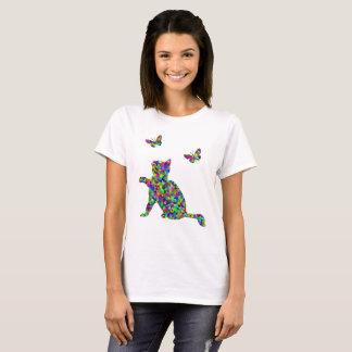 T-shirt Pièce en t prismatique colorée de nouveauté de