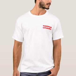 T-shirt Pièce en t rayée de logo de couture de bonbon